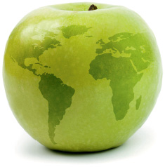 apple world - Copyright – Stock Photo / Register Mark