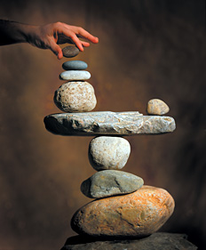 balancing rocks - Copyright – Stock Photo / Register Mark