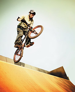 BMX rider - Copyright – Stock Photo / Register Mark