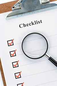 checklist - Copyright – Stock Photo / Register Mark