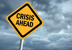 crisis ahead - Copyright – Stock Photo / Register Mark
