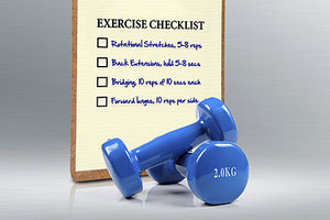 exercise checklist - Copyright – Stock Photo / Register Mark
