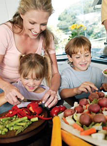 family cooking - Copyright – Stock Photo / Register Mark