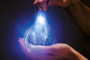 lightening in a bottle - Copyright – Stock Photo / Register Mark