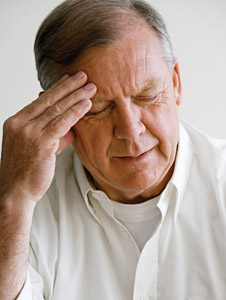 old man with headache - Copyright – Stock Photo / Register Mark