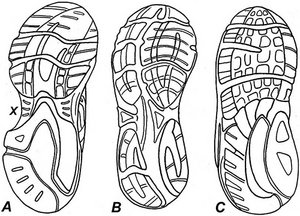 Bottom view of running shoes - Copyright – Stock Photo / Register Mark