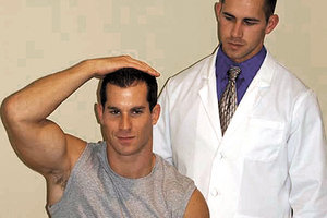 shoulder abduction test - Copyright – Stock Photo / Register Mark