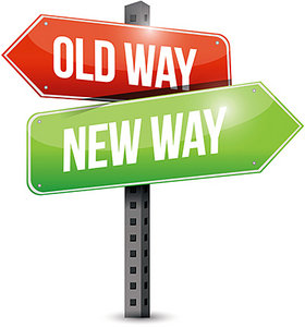 old way, new way - Copyright – Stock Photo / Register Mark