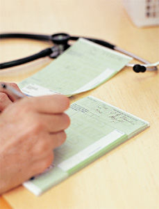 prescription pad - Copyright – Stock Photo / Register Mark