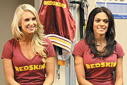 redskins cheerleaders - Copyright – Stock Photo / Register Mark