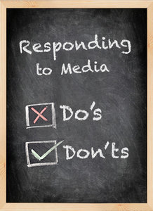 responding to media - Copyright – Stock Photo / Register Mark