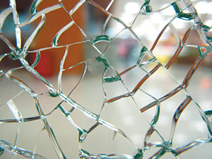 Shattered glass - Copyright – Stock Photo / Register Mark
