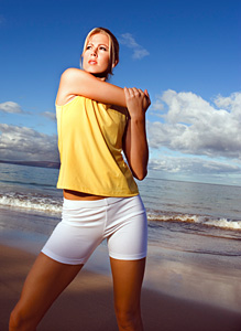 shoulder stretching - Copyright – Stock Photo / Register Mark