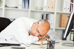 sleep at job - Copyright – Stock Photo / Register Mark
