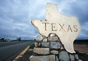 texas road sign - Copyright – Stock Photo / Register Mark