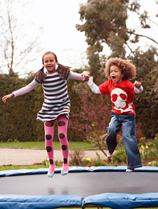 kids on trampoline - Copyright – Stock Photo / Register Mark