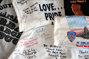 WTC signed T-shirts - Copyright – Stock Photo / Register Mark